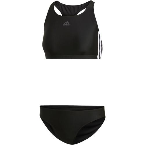 adidas Fit 3-Stripes Bikini Set Damen in black, Größe 38