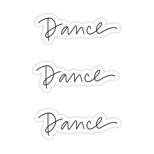 Dance Dance Dance Sticker