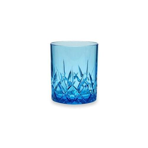 Q Squared NYC Whiskyglas Topaz, (Set, 3 tlg., 3) blau Whiskygläser Gläser Glaswaren Haushaltswaren