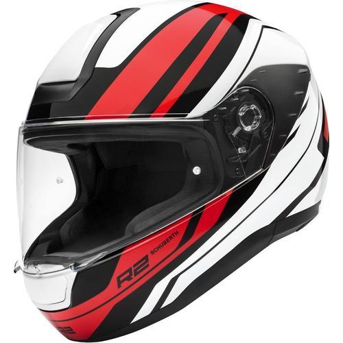 Schuberth R2 Enforcer Helm, weiss-rot, Größe 2XL