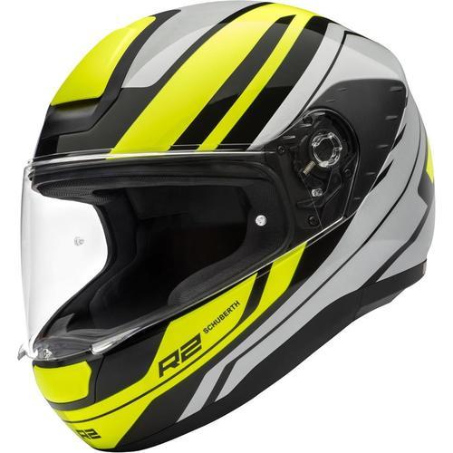 Schuberth R2 Enforcer Helm, grau-gelb, Größe S