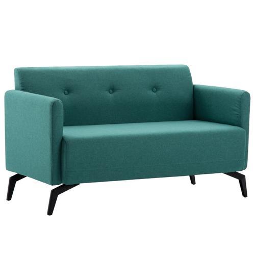 vidaXL 2-Sitzer-Sofa Stoffbezug 115 x 60 x 67 cm Grün