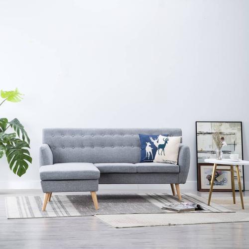 vidaXL Sofa in L-Form Stoffbezug 171,5 x 138 x 81,5 cm Hellgrau