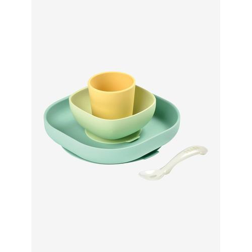 Baby Esslern-Geschirr aus Silikon BEABA® gelb
