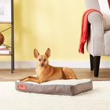 Brindle Soft Orthopedic Pillow Cat & Dog Bed w/Removable Cover, Khaki, 22 x 16 in