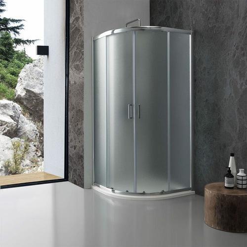 Runddusche Giada 90 × 90 Cm Mattes 6 Mm Kristallglas
