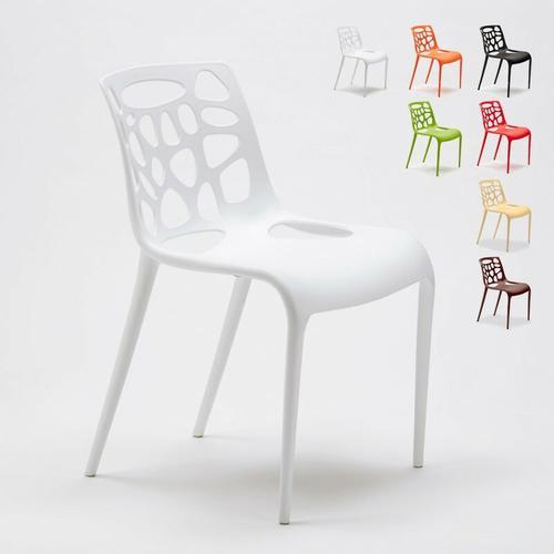 Ahd Amazing Home Design - Set 24 Stühle Küchenstuhl Esstischstuhl Gartenstühle | Weiß