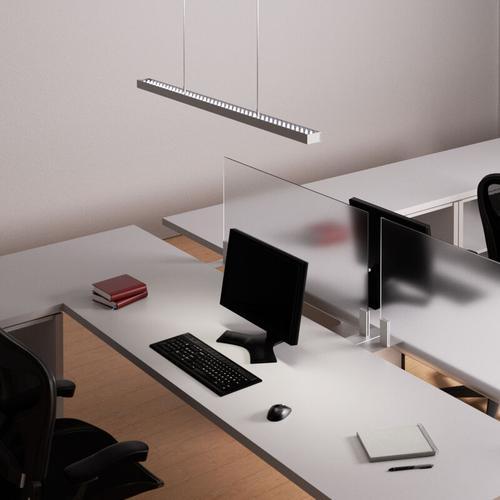 Dimmbare Office-Hängeleuchte Jolinda mit LEDs