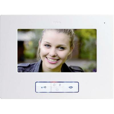 Station intérieure dInterphone vidéo filaire Vistus VD 607 blanc - M-e Modern-electronics