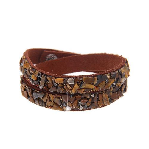 leslii Armband, in Wickel-Optik braun Damen Armbänder Schmuck Armband