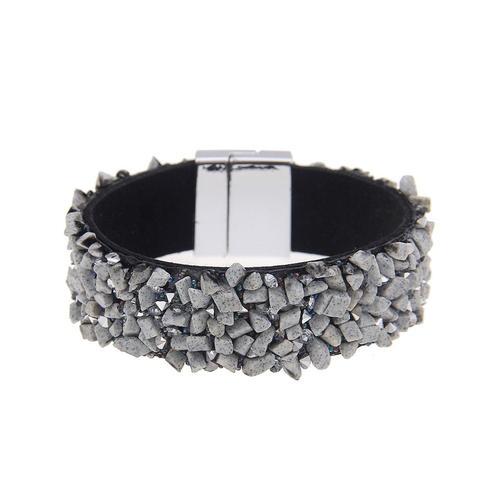 leslii Armband, mit funkelnden Details grau Damen Armbänder Schmuck Armband