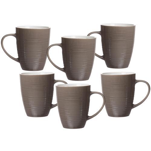 Ritzenhoff & Breker Becher Suomi, (Set, 6 tlg.), 6-teilig grau Tassen Geschirr, Porzellan Tischaccessoires Haushaltswaren