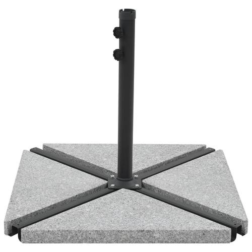 vidaXL Sonnenschirm-Gewichtsplatte Granit 15 kg Dreieckig Grau