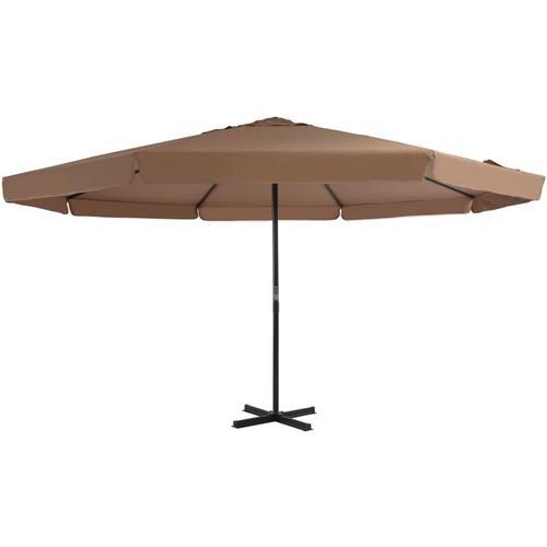 Sonnenschirm mit Aluminium-Mast 500 cm Taupe