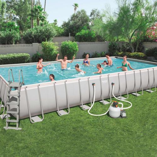 Bestway Power Steel Swimmingpool-Set Rechteckig 956×488×132 cm 56623