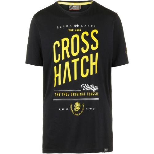Crosshatch Fresan T-Shirt Herren in black, Größe XL