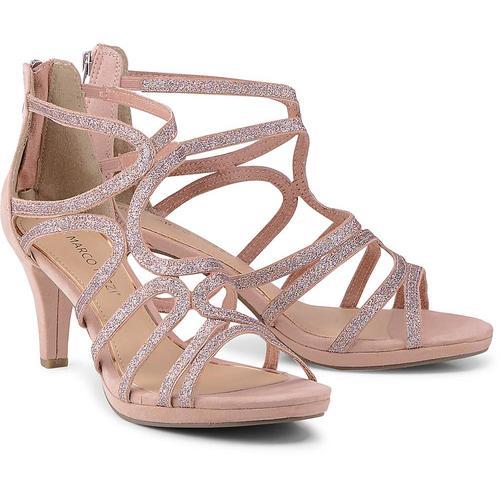 MARCO TOZZI, Glitzer-Sandalette in rosa, Sandalen für Damen Gr. 40