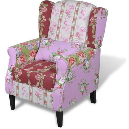 Vidaxl - Französischer Sessel mit Patchwork-Design Stoff