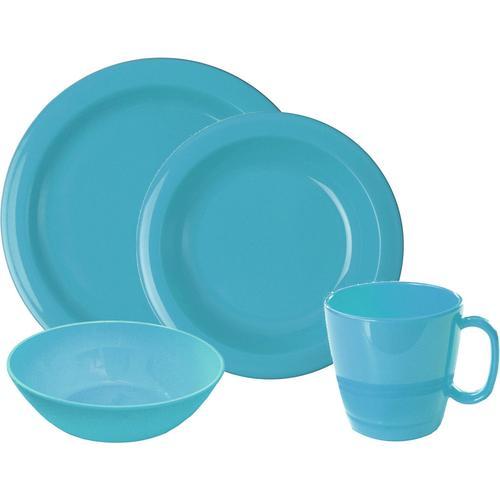 WACA Frühstücks-Geschirrset, (Set, 8 tlg.) blau Frühstücksset Eierbecher Geschirr, Porzellan Tischaccessoires Haushaltswaren Frühstücks-Geschirrset