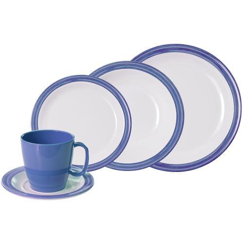 WACA Kombiservice Bistro, (Set, 10 tlg.) blau Geschirr-Sets Geschirr, Porzellan Tischaccessoires Haushaltswaren