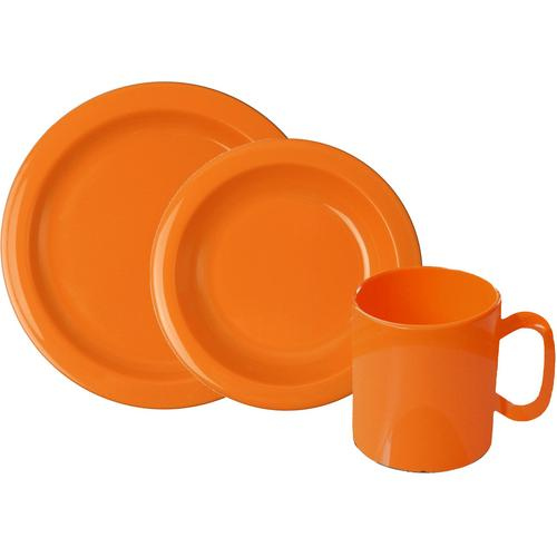 WACA Frühstücks-Geschirrset, (Set, 6 tlg.) orange Frühstücks-Geschirrset Frühstücksset Eierbecher Geschirr, Porzellan Tischaccessoires Haushaltswaren