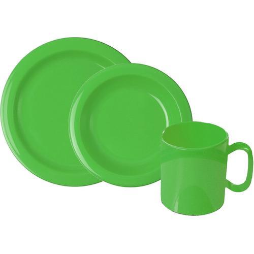 WACA Frühstücks-Geschirrset, (Set, 6 tlg.) grün Frühstücks-Geschirrset Frühstücksset Eierbecher Geschirr, Porzellan Tischaccessoires Haushaltswaren