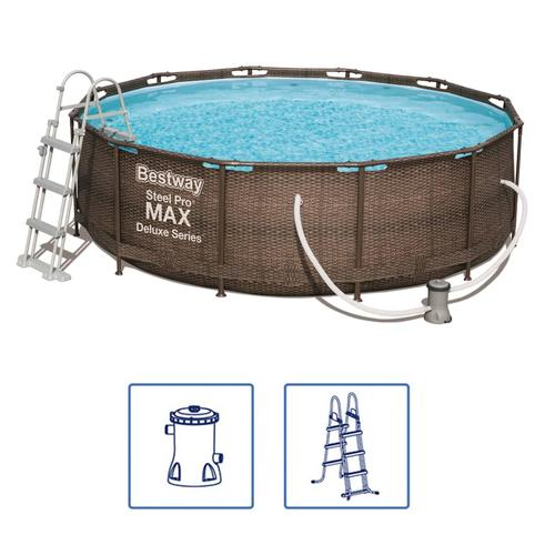 Bestway Steel Pro MAX Swimmingpool-Set Deluxe Series Rund 366×100 cm