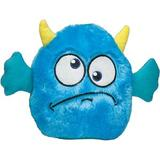 Zanies Rock Monster Squeaky Plush Dog Toy, Blue