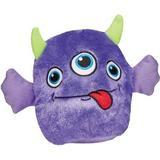 Zanies Rock Monster Squeaky Plush Dog Toy, Purple