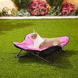HDP Padded Napper Elevated Dog Bed, Pink, Medium