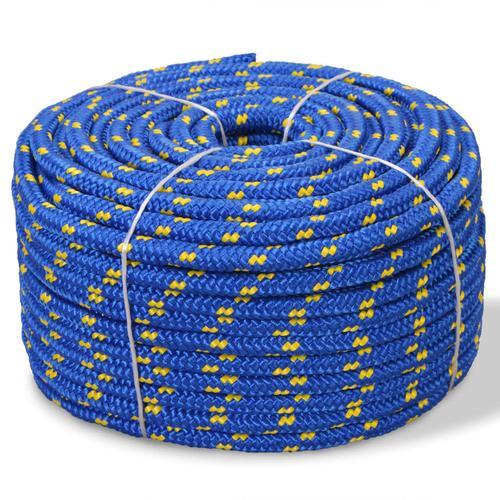 vidaXL Bootsseil Polypropylen 10 mm 250 m Blau