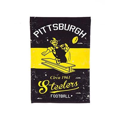 Team Sports America 13L3824VINT Pittsburgh Steelers Vintage Linen