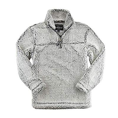 Boxercraft Adult Super Soft 1/4 Zip Sherpa Pullover-Smokey Grey-x-small