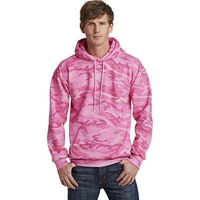 Port & Company Classic Camo Pullover Hooded Sweatshirt PC78HC Pink Camo 2XL