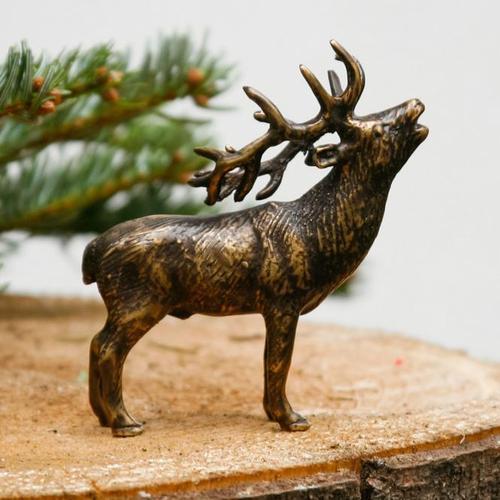 Tierfigur Hirsch, 11x9x3,5 cm, Bronze