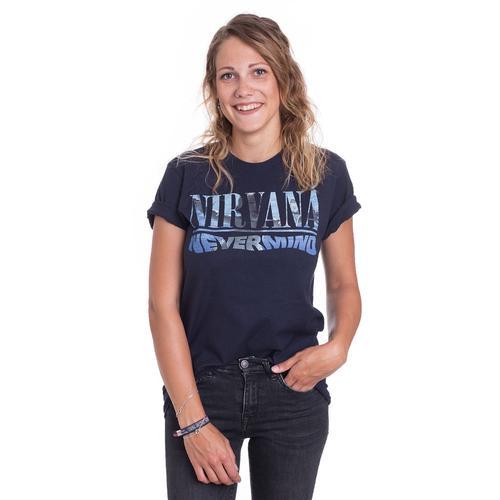 Nirvana - Nevermind Album Playlist Navy - - T-Shirts