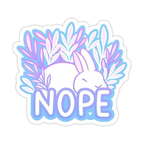 Nope // Tired Bunny | Nikury Sticker