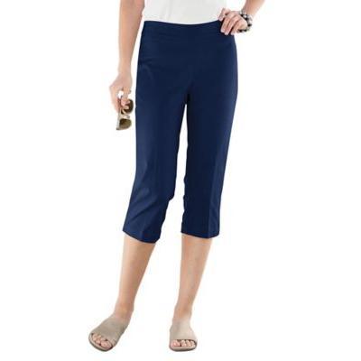 Women's Slim-Sation Capris, Classic Navy Blue 10 Misses
