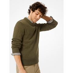 Michael Kors Cotton and Linen Pullover Green L