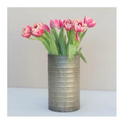 Accessories for the Home - Wave Vase - Silver/Gold