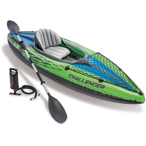 Intex Einerkajak Challenger K1 Kayak Set, (Set, 3) grün Boote Wassersportausrüstung Sportausrüstung Accessoires