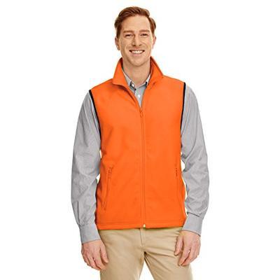 Harriton Adult 8 oz. Fleece Vest XL Safety Orange -