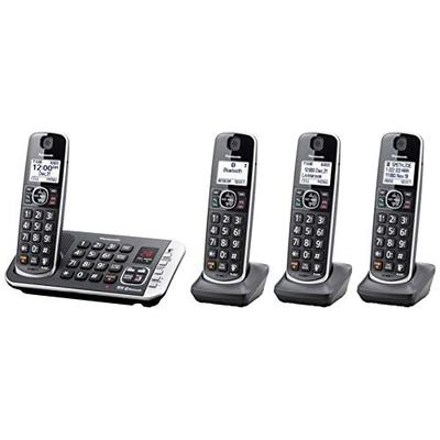 Panasonic Link2Cell Bluetooth DECT 6.0 Expandable Cordless Phone System with Digital Answering Syste