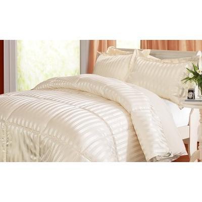 Kathy Ireland Home Essentials 3 Piece Reversible Down Alternative Comforter, Full/Queen, Black