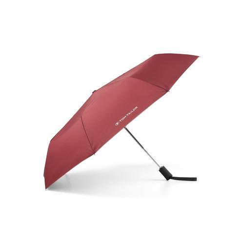 TOM TAILOR Unisex Kleiner Automatik Regenschirm, rot, unifarben, Gr.OneSize