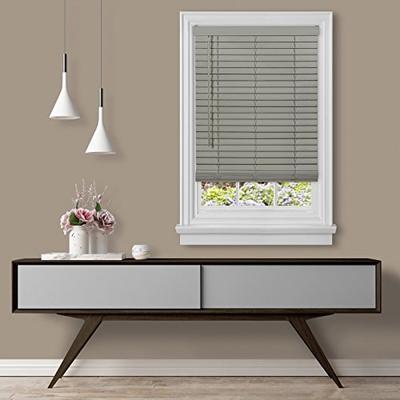 "Achim Home Furnishings Cordless GII Madera Falsa 2"" Faux Wood Plantation Blind 29"" x 64"", Grey"