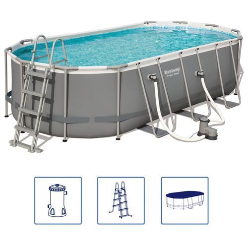 Bestway Power Steel Swimmingpool-Set Oval 549×274×122 cm 56710
