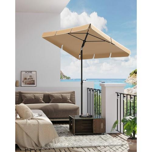 200 × 125 cm Sonnenschirm, Marktschirm, UV-Schutz UPF 50+, Gartenschirm, Terrassenschirm,