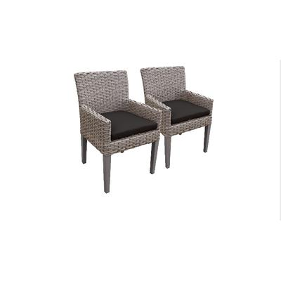 2 Florence Dining Chairs w/ Arms in Black - TK Classics Florence-Tkc297B-Dc-C-Black