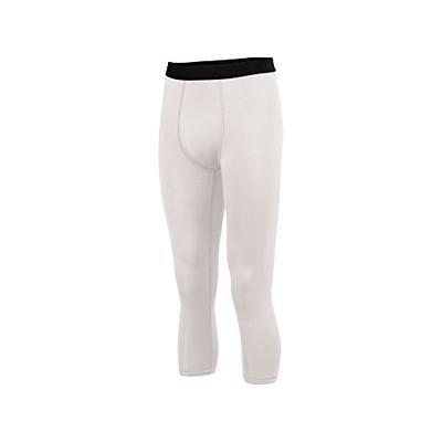Augusta Sportswear Boys' Hyperform Compression Calf-Length Tight M White